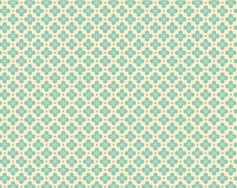 Riley Blake Designs, Sidewalks Hopscotch, C3484 Teal