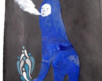 Smoke Breather on Black  / Original by Emma Kidd