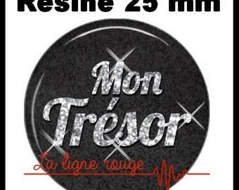 Round cabochon resin 25 mm - my treasure craft (3037)