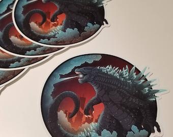 Godzilla King of Monsters 5 inch Vinyl Monster Sticker by Mythka