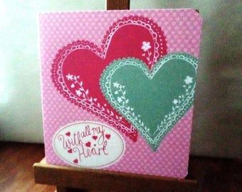 Valentine - Valentine's Day ' With all My Heart - 15 cm x 15 cm