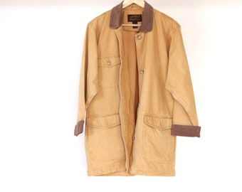 TWIN PEAKS oxford denim CONTRAST corduroy collar 90s jacket coat size Small