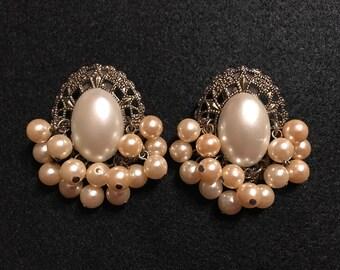 Vintage Victorian Stlye Pearl Earrings