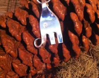 Fork Necklace Elephant - Elephant Necklace - Fork Necklace  -Silverware Jewelry - Silverware Necklace - Fork Jewelry - Spoon Jewelry