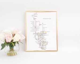 printable artnew york subway mapnew york subwaymanhattan subway mapnew york metro mapnyc artdorm roomsubway poster artwall art print