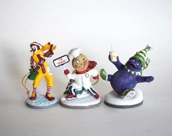 Vintage McDonalds Corporation Christmas Ornaments