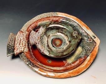 Set of 3 (or individual) Textured ceramic Fish bowls