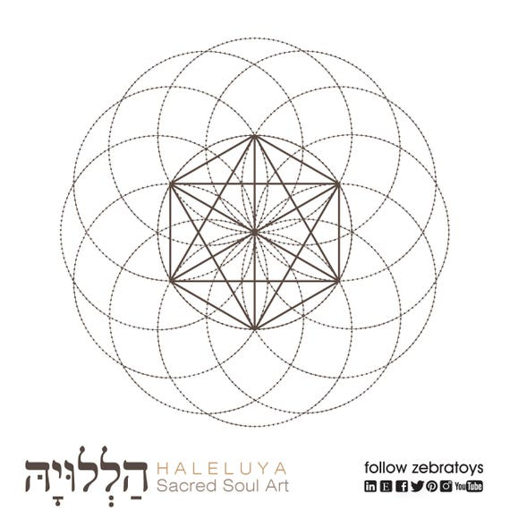 Octahedrons Seed of Life-Sacred Geometry Symbols-Spiritual
