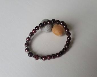 Bracelet Garnet (6 mm beads)