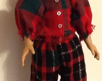 """Christmas Loungewear or PJ for your 18"""" Doll such as the American Girl sized doll."""