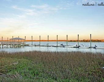 Docks at Sunrise   Photography Print   Wall Art   Home Decor   Nature   Southern Photography Print