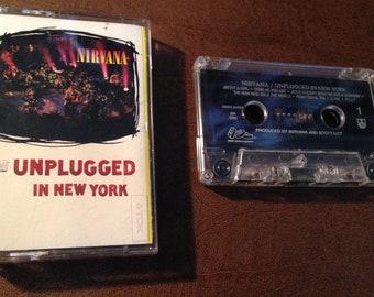 Nirvana / Unplugged audio cassette tape