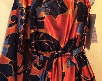 Red/Navy One Shoulder Strap Dress