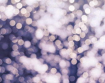 large abstract art abstract print fairy lights print abstract photography bokeh winter art print photgraphy decor lilac purple pastel