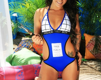 Tardis Swimsuit, inspired by Dr Who