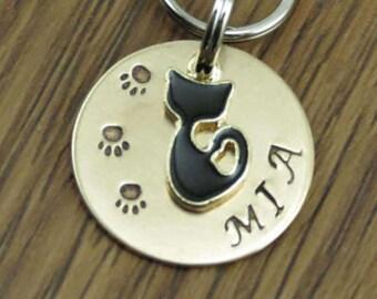 Cat tag, Cat ID tag, Cat name tag, Dog tag, Dog ID tag, Pet tag, Pet ID tag, Personalized pet tag, Custom pet tag, Unique pet tag