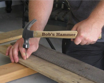 Engraved Hammer Personalized with Name or your personal message 16oz Hammer Christmas husband fathers day groomsman best man gifts for guys