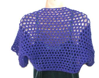 Purple Shrug, XL Bolero, Womens Plus Size, Plus Size Sweater, Plus Size Shrug, Purple Sweater, Short Sleeve Shrug, Plus Size Clothing