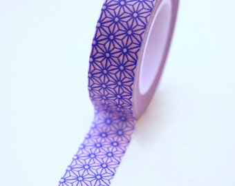Washi Tape - 15mm - Blue and Pink Geometric Pattern - Deco Paper Tape No. 351