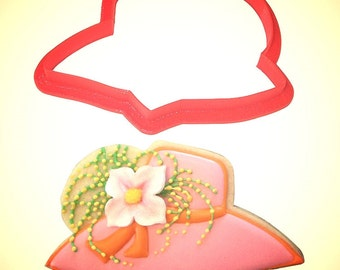 "Derby hat cookie cutter 4.25""x2"", derby cookie cutter, Easter Hat cookie cutter, Tea party hat cookie cutter"