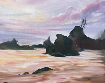 Oil Painting: La Push, Washington