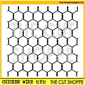 The Chicken Wire background cut file is availalbe in 8.5x11 and 12x12 sizes for your scrapbooking and papercrafting projects.