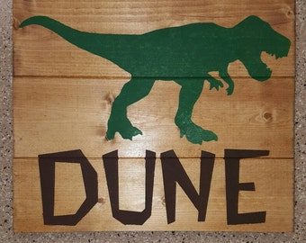 T-Rex – Personalized Wood Sign