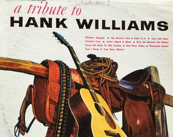 A Tribute to Hank Williams - Vinyl record