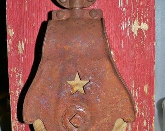 Starline Cast Iron Wood Barn Pulley Rustic Hay Trolley Farm Industrial Décor