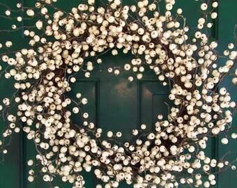 White Winterberry Wreath
