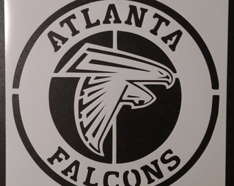 Round Atlanta Falcons Custom Stencil FAST FREE SHIPPING