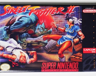 Super Nintendo SNES Street Fighter 2 FRIDGE MAGNET Video Game Box