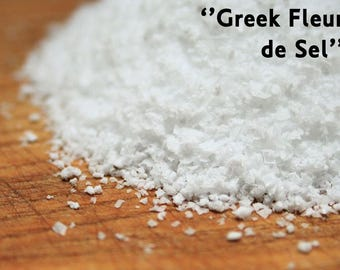 Organic Hand Harvested Mediterranean Greek Sea Salt Flakes (Fleur de Sel)
