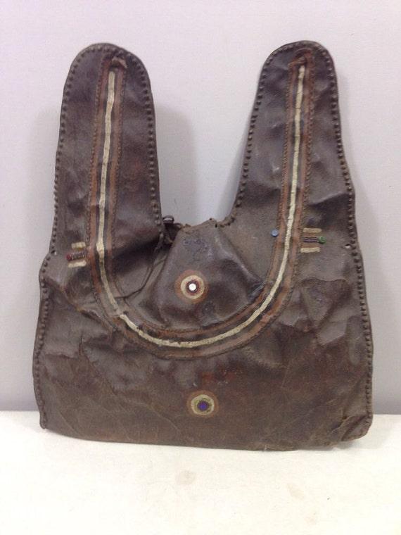 African Bag Leather Beaded Masai Money or Jewelry Bag Kenya Handmade Leather Keepsake Female Money Bag
