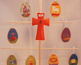 Lent Holy Week Easter Ornaments WITH TREE