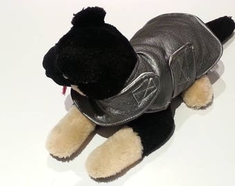 Quilted gray raincoat size XS to small dogs