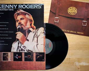Kenny Rogers - Greatest Hits (1980) Vinyl LP  Gambler, Lady, Lucille, Best of