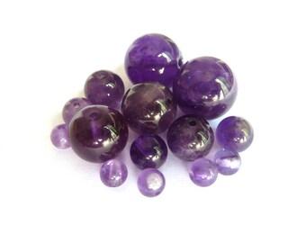 Amethyst Pearl Ø 10 mm PCH0 has individually gem stone semi precious