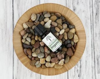 Organic Bergamot Essential Oil • Therapeutic Grade • Pure • Uncut • Citrus • 10 ml With Dropper Caps •