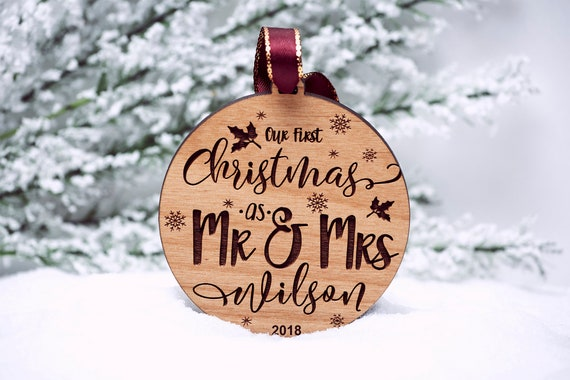 Our First Christmas Ornament Married Personalized Christmas