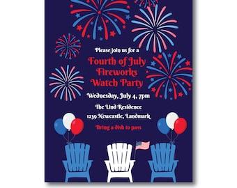 July 4th invitations Etsy