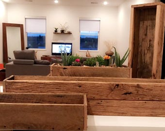 RECLAIMED WOOD PLANTER Boxes Perfect for Indoors or Out