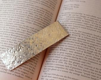 Personalized Aluminum Bookmark, Hand Stamped, Boyfriend Gift, Girlfriend, Husband Wife Gift, 7th Anniversary, 10 Year
