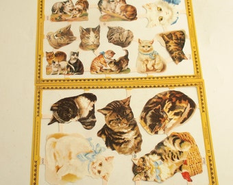 Paper Scraps Cats Kittens Die Cuts Made in England