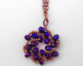 Galaxy Necklace in Alcyone - Purple Star Necklace - Copper Star Pendant - Celestial - Night Sky - Sci-Fi Jewelry - Purple Bridesmaid Jewelry