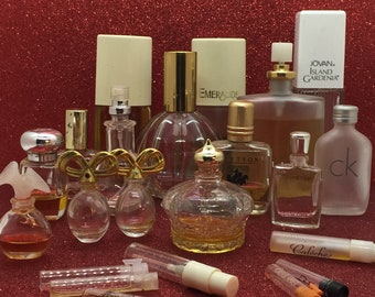 20 Pc Lot of Vintage Perfume & Bottles ~ 1970s/1980s/1990s