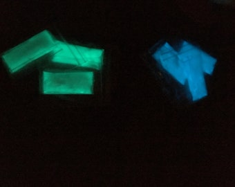 Phosphorescent pigment Glow in the dark, Aqua and blue/2, 5g/resin, creation of pendants, necklaces, jewelry, light in the dark, UV light, UV resin.