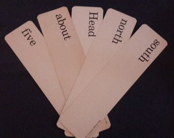Large Word Flash Cards Vintage