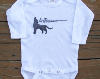 Cute baby clothes, Unique baby bodysuit, Animal bodysuit, Wolf bodysuit, Wolf baby, Woodland baby, Dog, Coyote, Baby gift