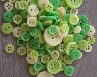 Green and yellow buttons